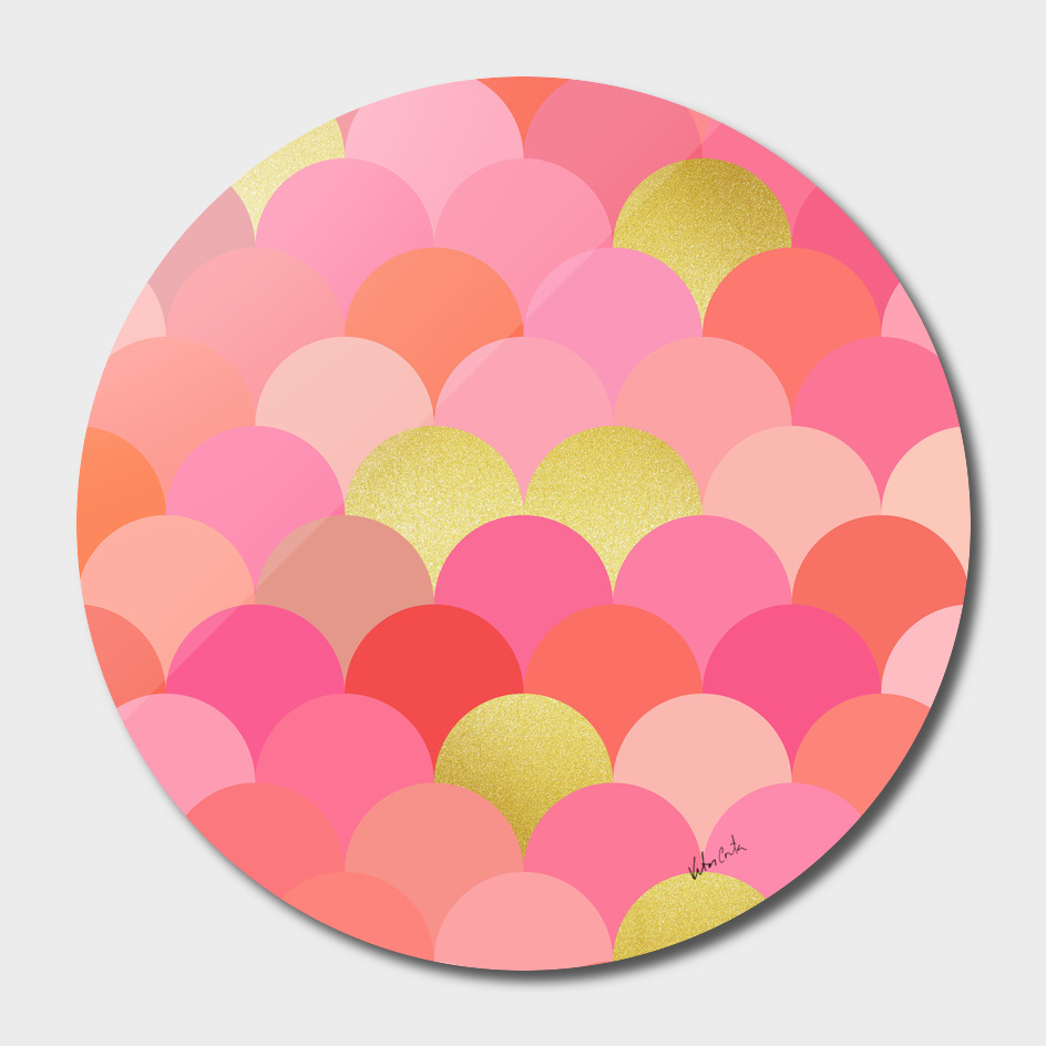Geometric and gold circles I