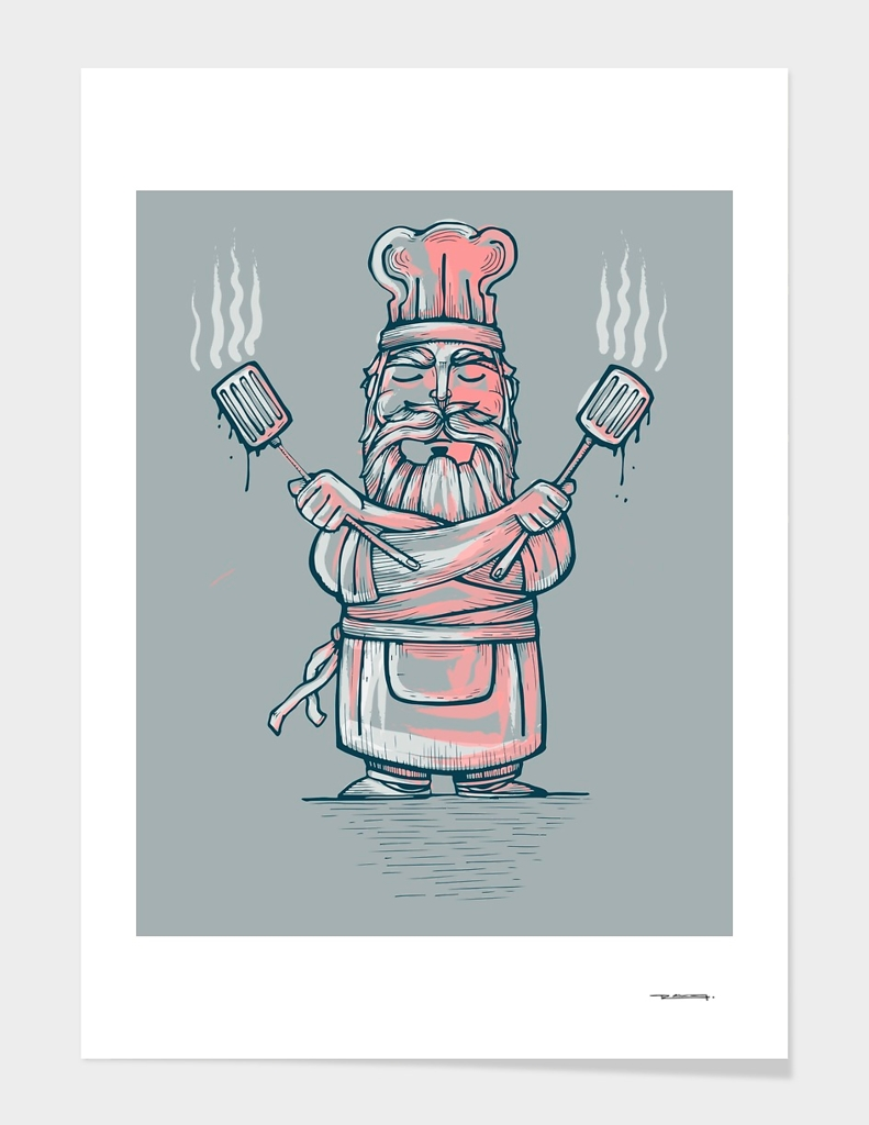 Big bad chef illustration