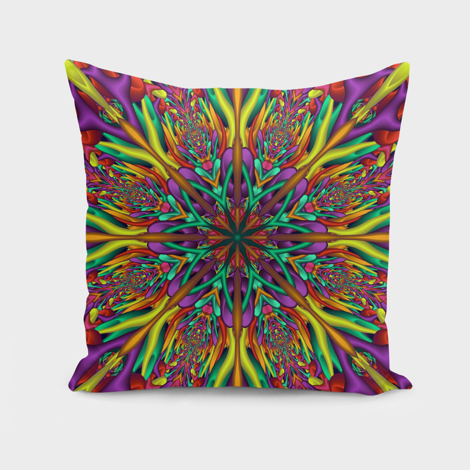 Crazy colors 3D mandala