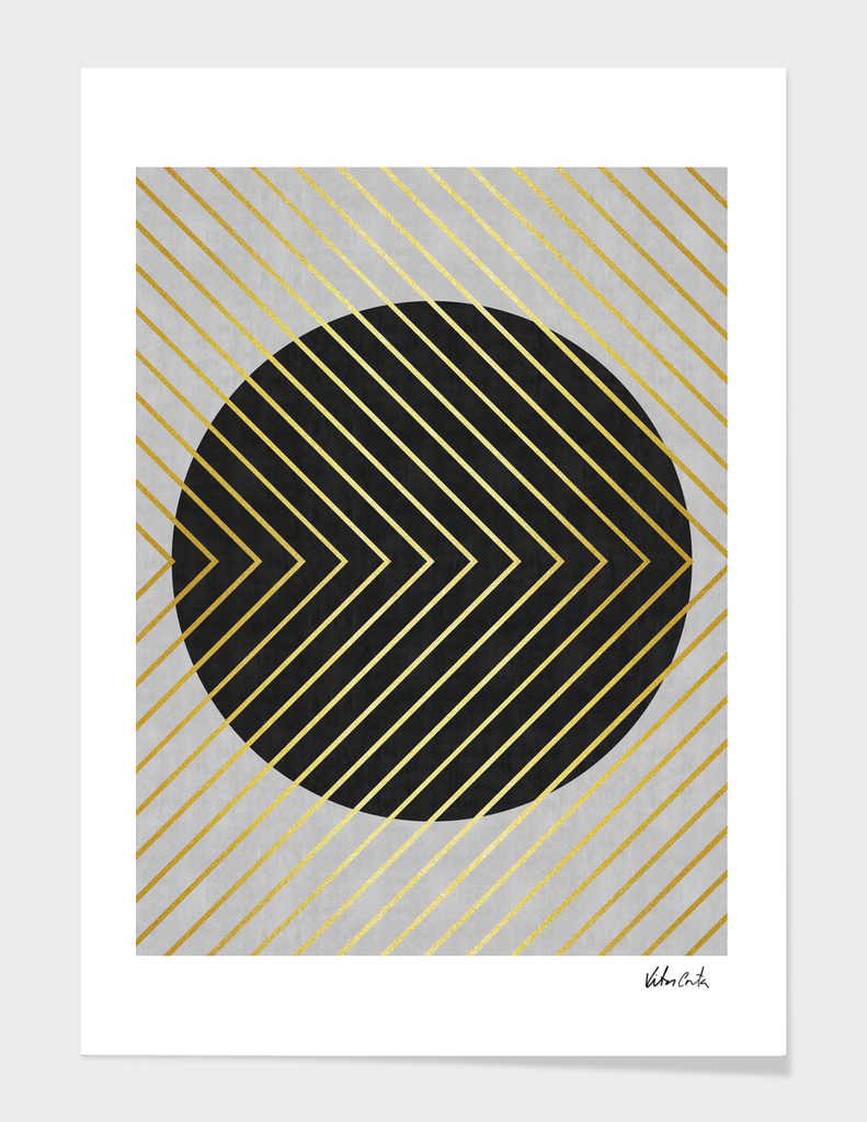 Minimalist and golden art