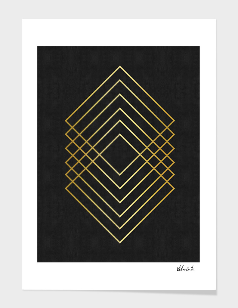 Minimalist and golden art I