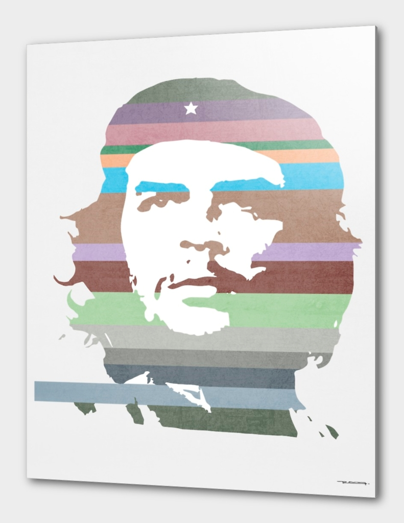 Che Guevara technicolor illustration