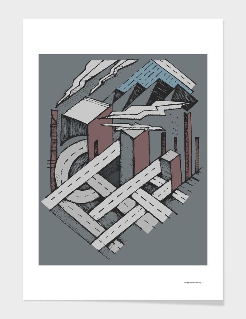 Urban hand drawn concept illustration