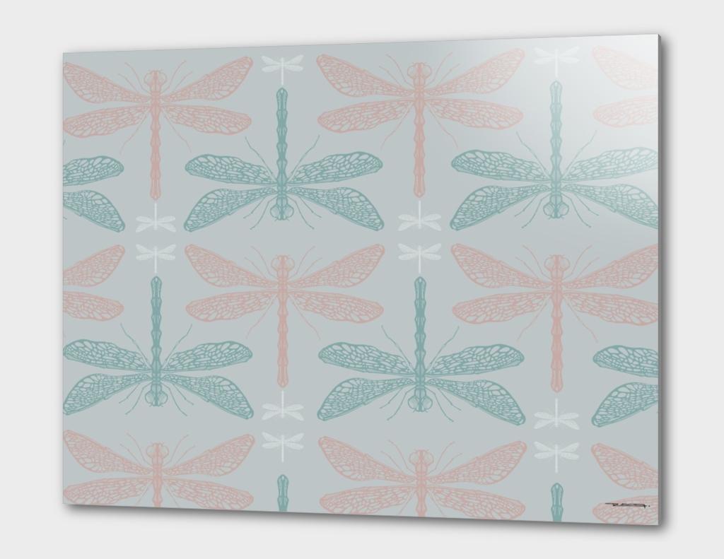 Dragonflies pattern vector illustration