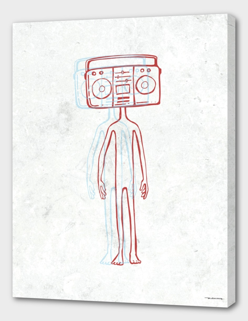 Radio head illustration