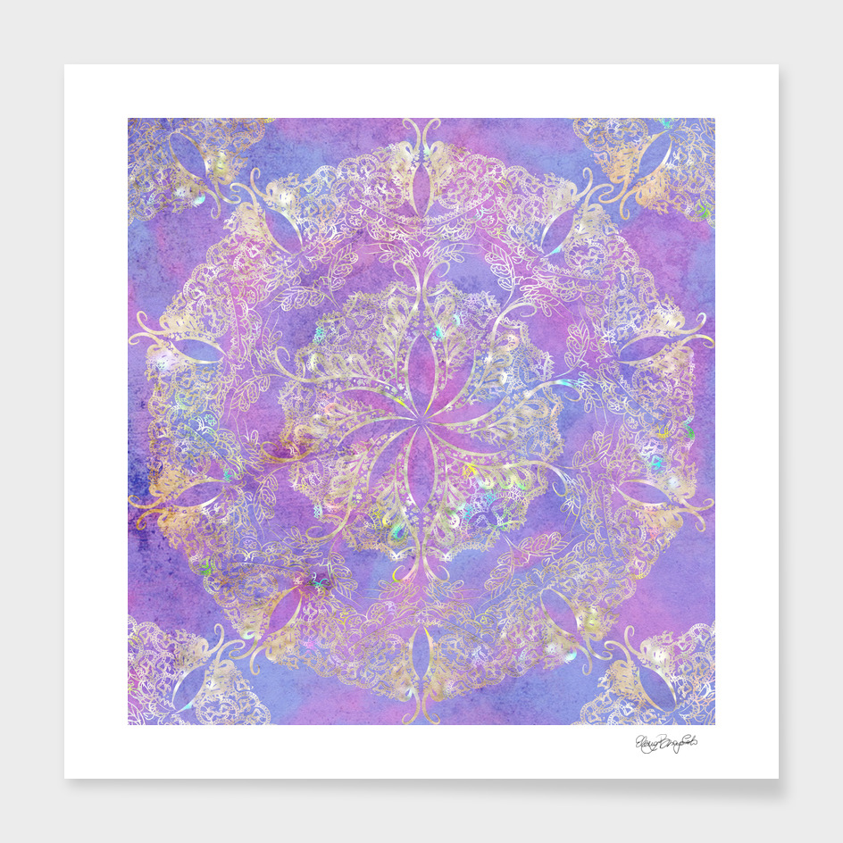 Mandala Gold Purple