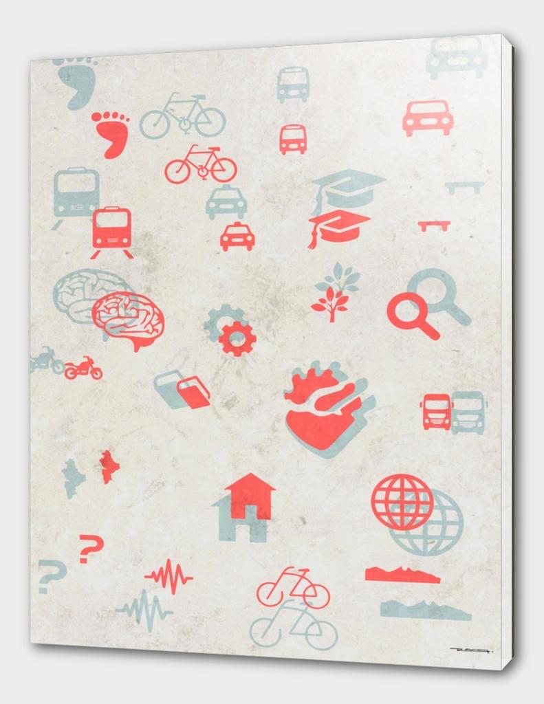 Urban mobility Icons illustration