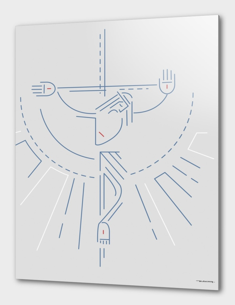 Jesus Christ at the Cross in a contemporary style