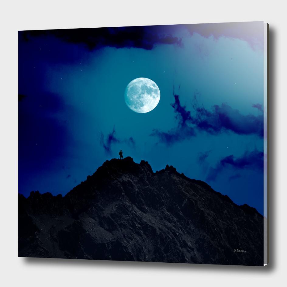 night on the mountain