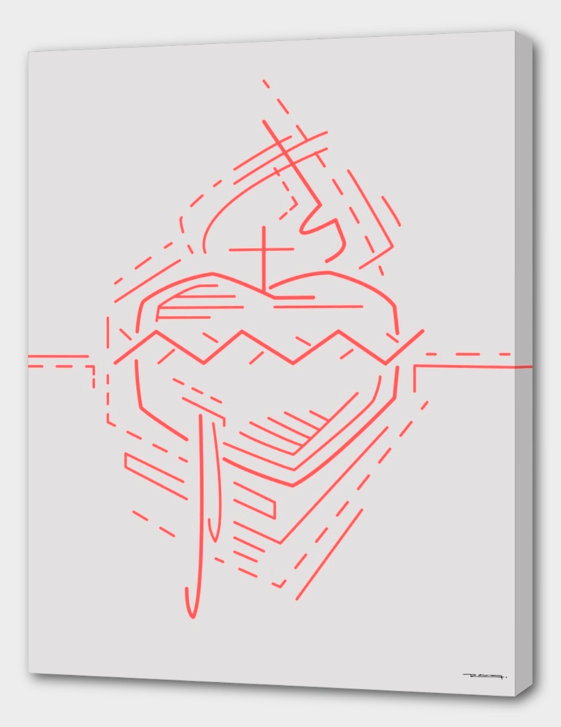 Jesus Sacred Heart illustration