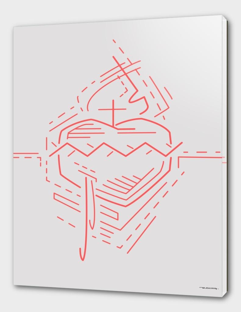 Jesus Sacred Heart illustration