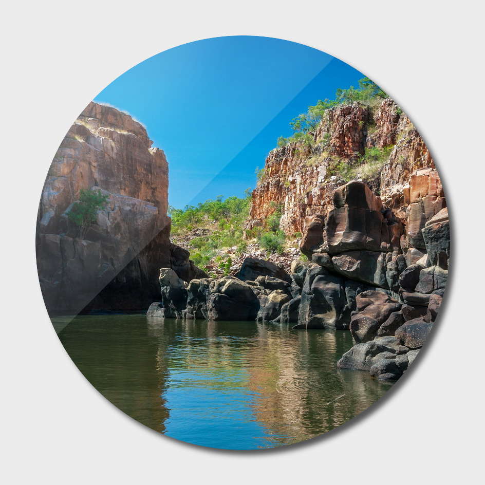 End point of Katherine Gorge river cruise in NT, australia.