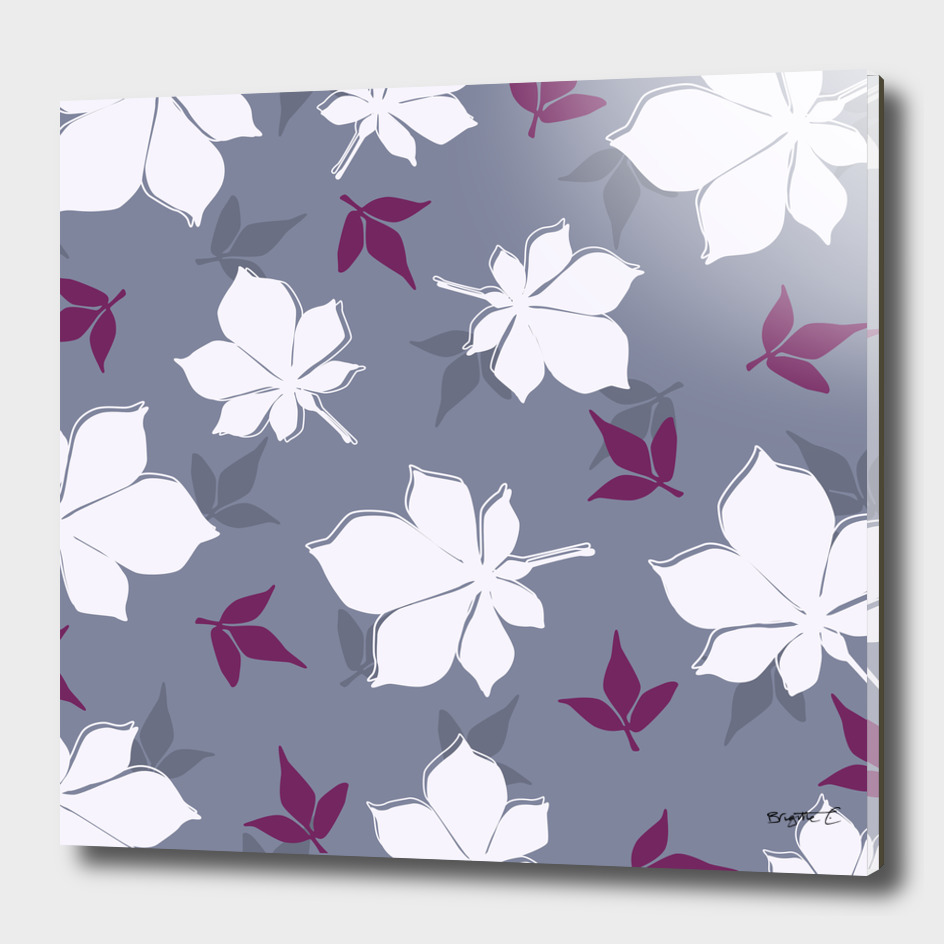 Serene Leaves Pattern