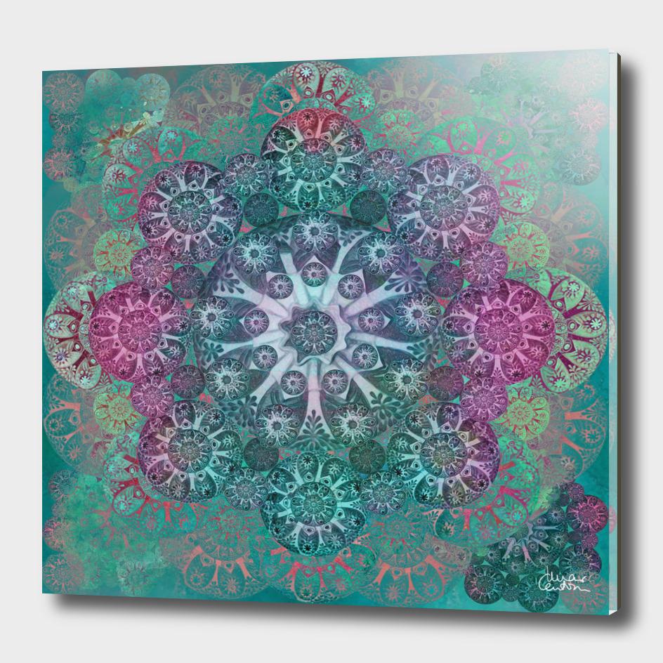 """Teal & Rose Mandala (pattern)"""