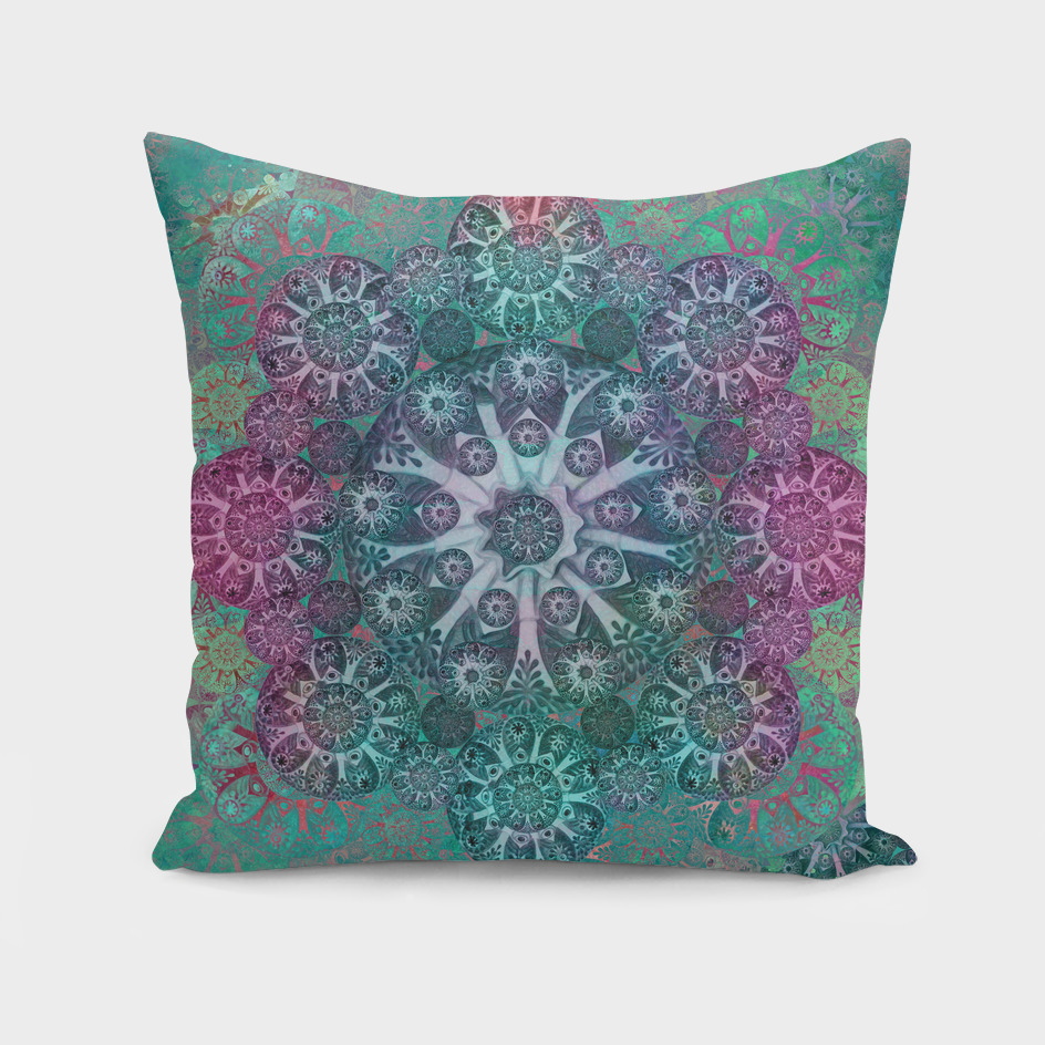 """Teal & Rose Mandala (pattern)"""