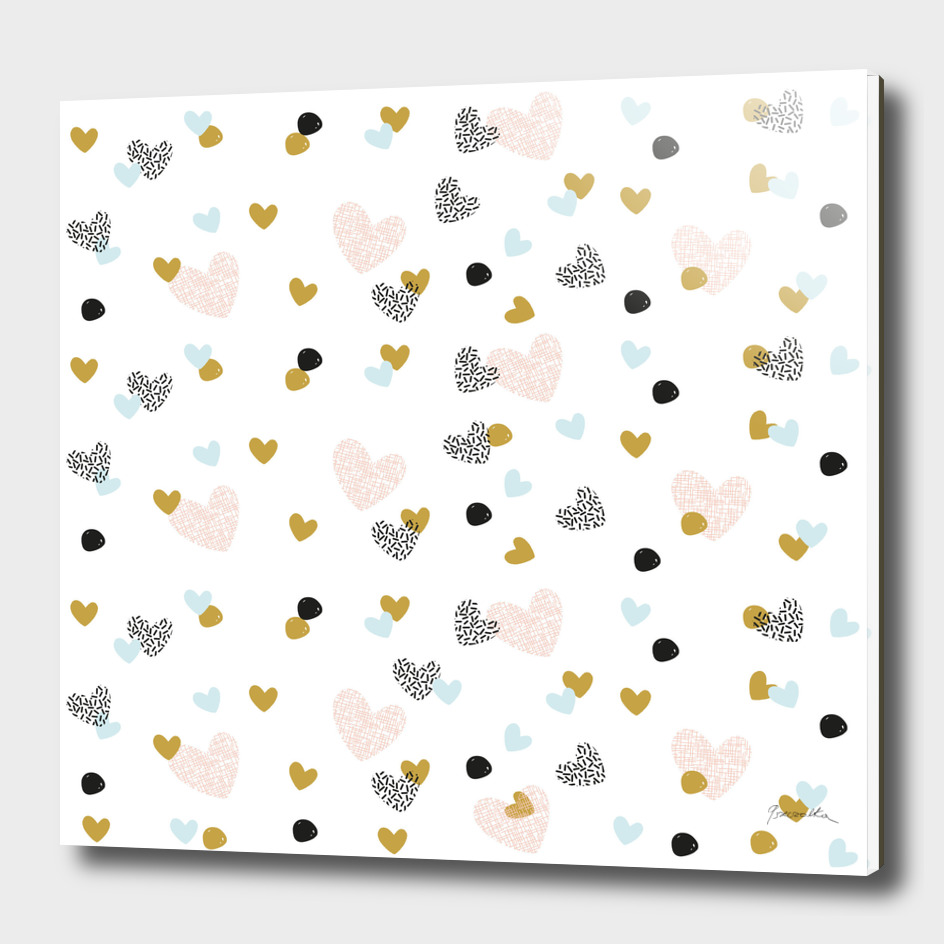 abstarct pattern with hearts