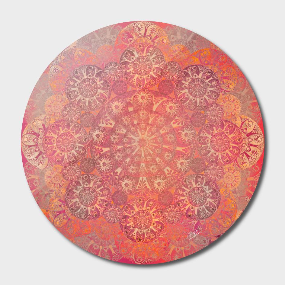 """""""Coral & Rosewood Mandala (pattern)"""""""