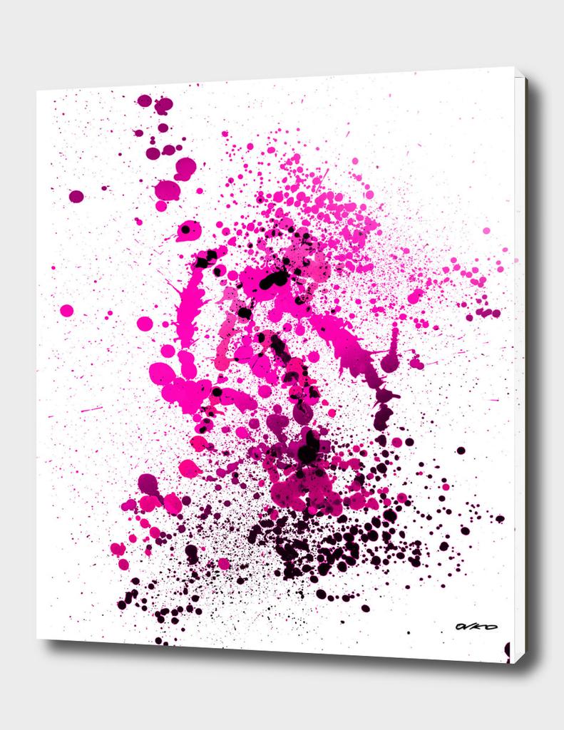 Magenta Madness - Abstract Splatter Art