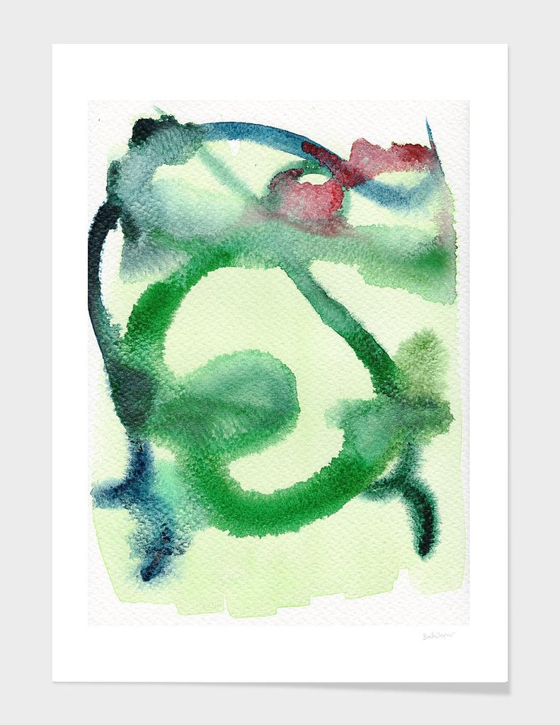 Surreal Man (green hues)