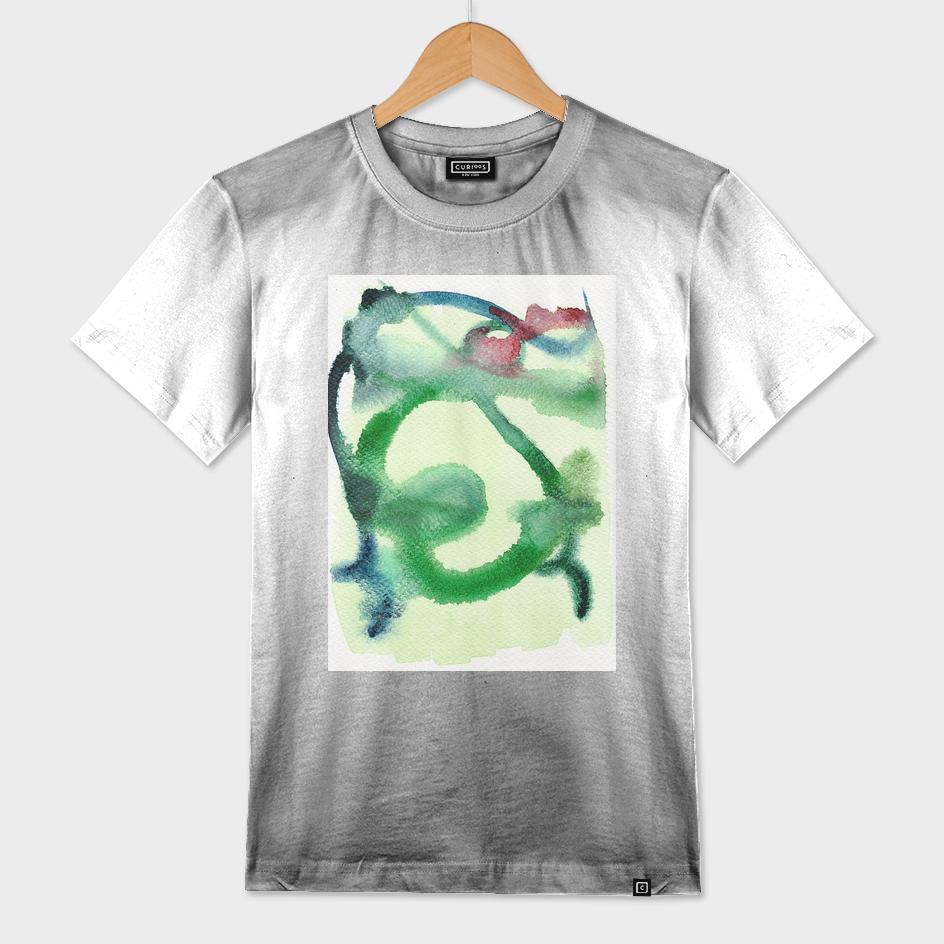 Abstract Man (green hues)