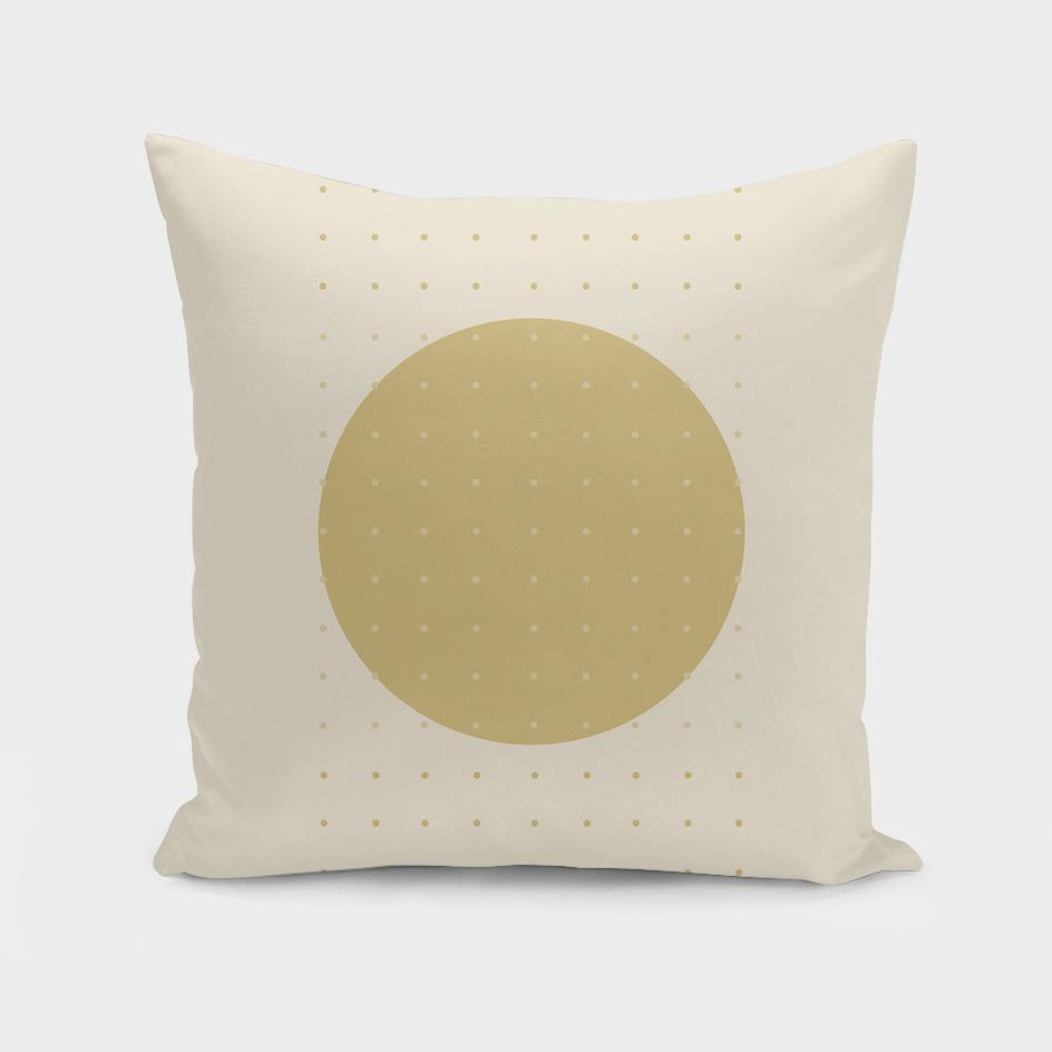 """""""Cream & Polka dots central circle pattern"""""""