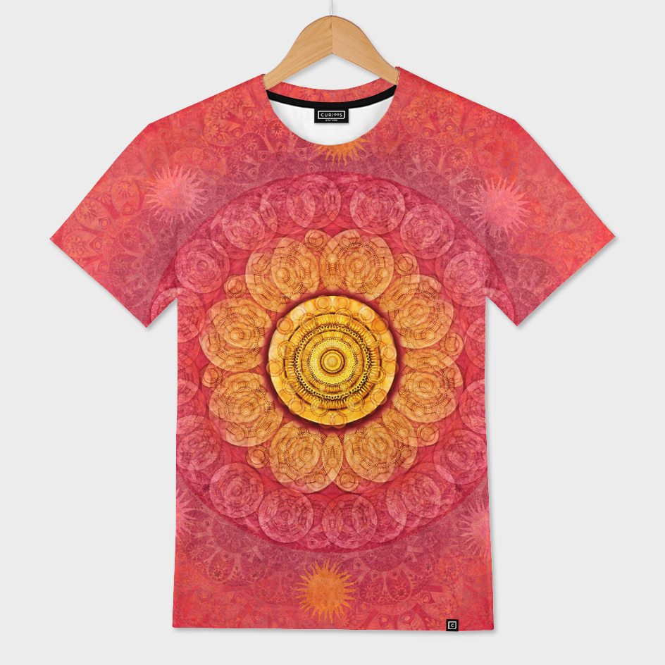 """Strawberry pink shades & Gold Mandala (pattern)"""
