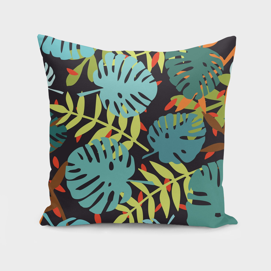 Jungle palm leaves