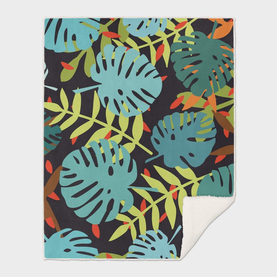 Jungle palm leaves