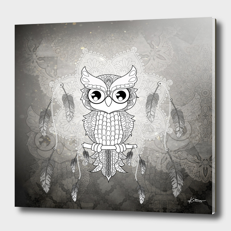 Mandala design, cute owl
