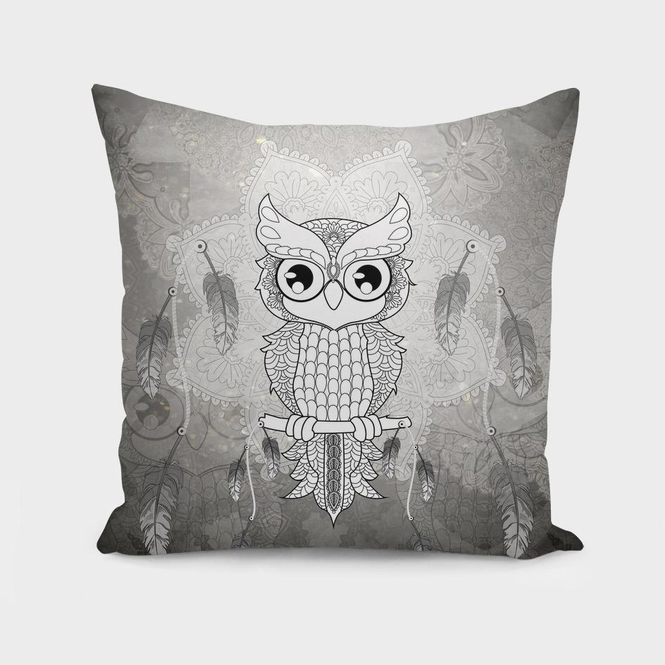 Mandala design, cute owl