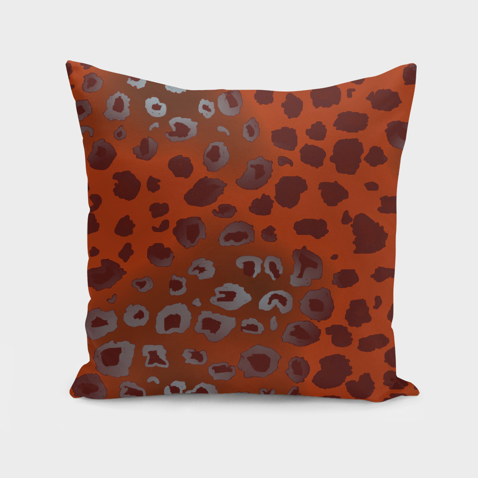 orange and red leopard