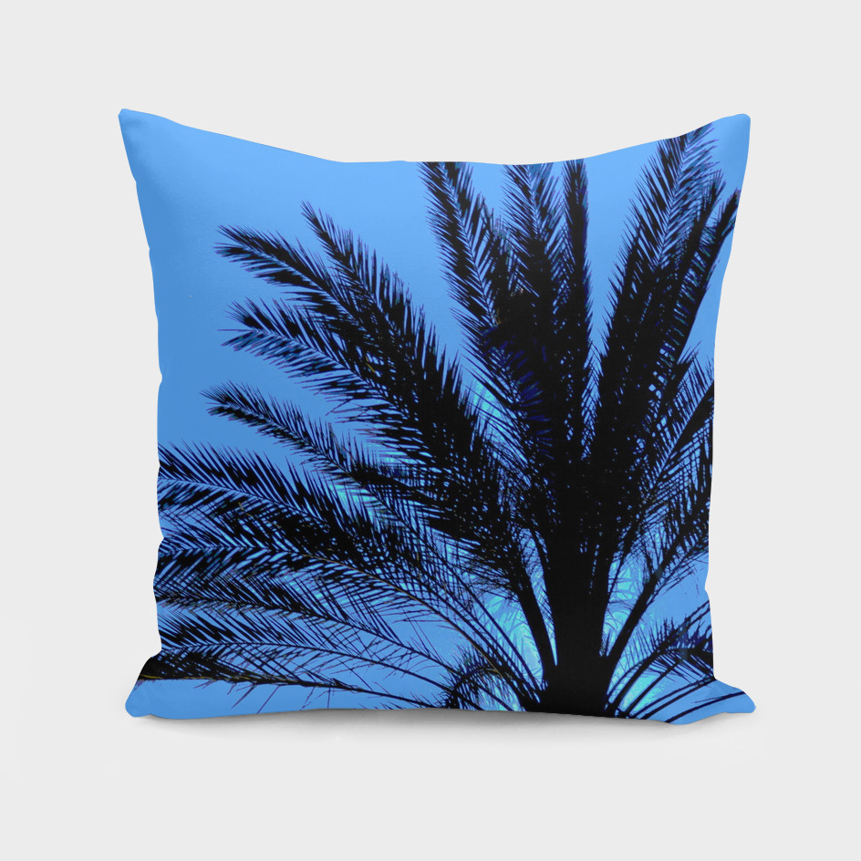 Bright Blue Palm