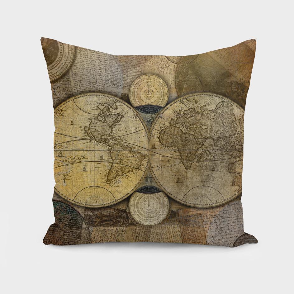 """""""Vintage paper & Maps (burlap texture)"""""""