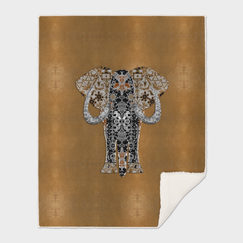 Ganesha (Gold Leaf Background)