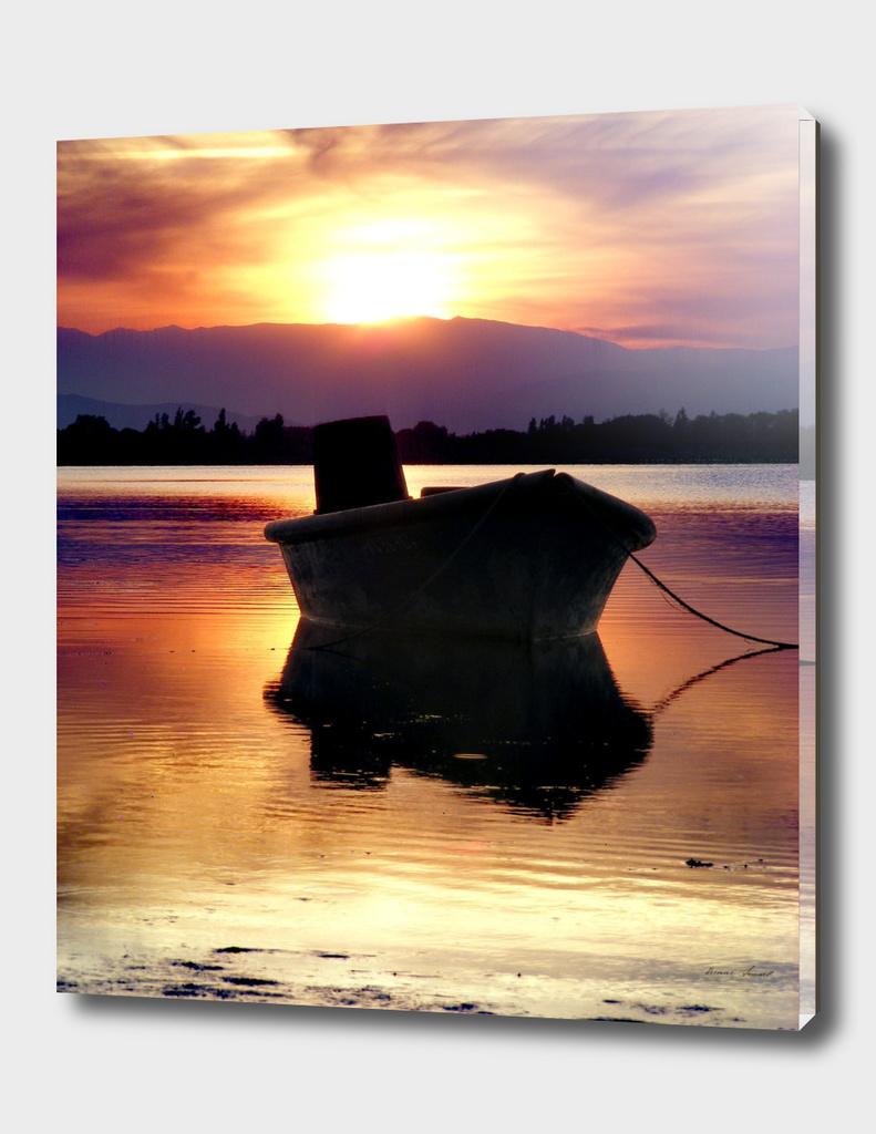 Barque sur l étang