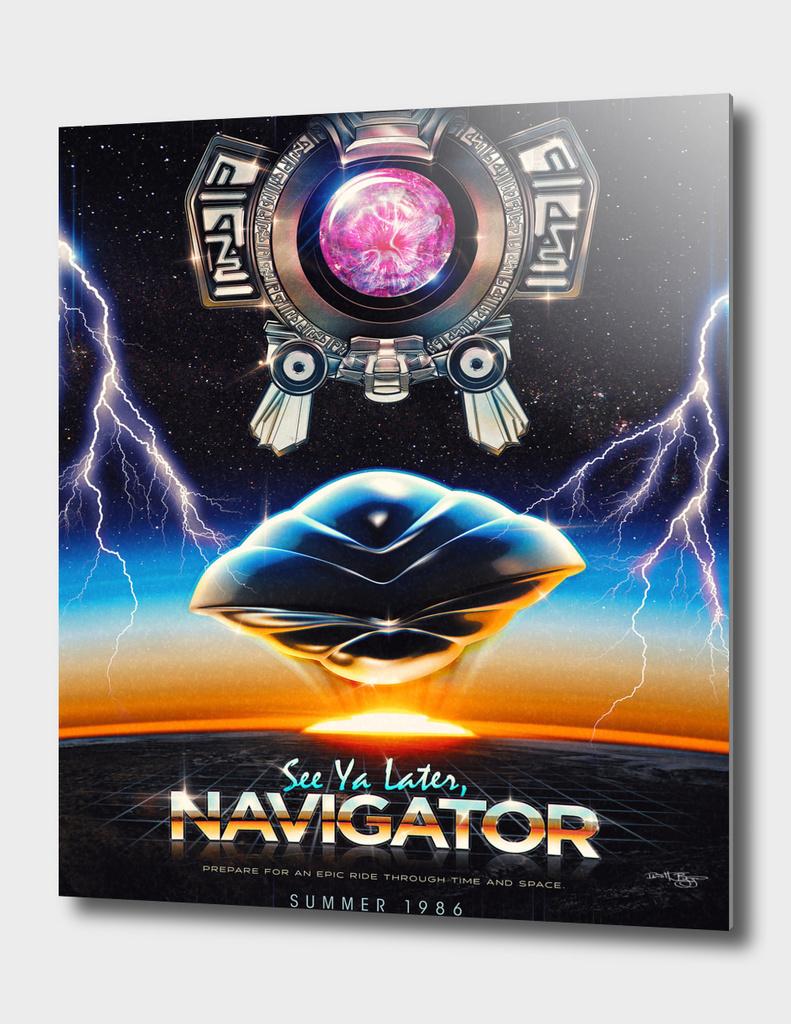 Flight of the Navigator Inspired Retro Poster