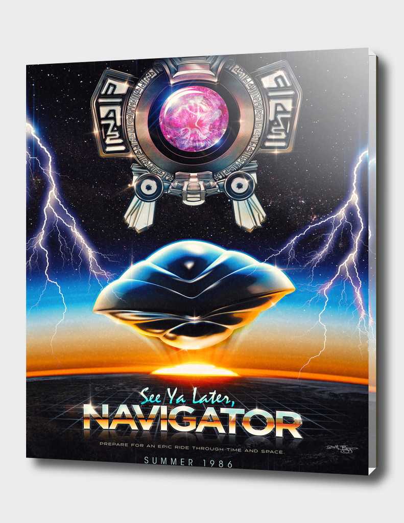 Flight of the Navigator Inspired Retro Poster