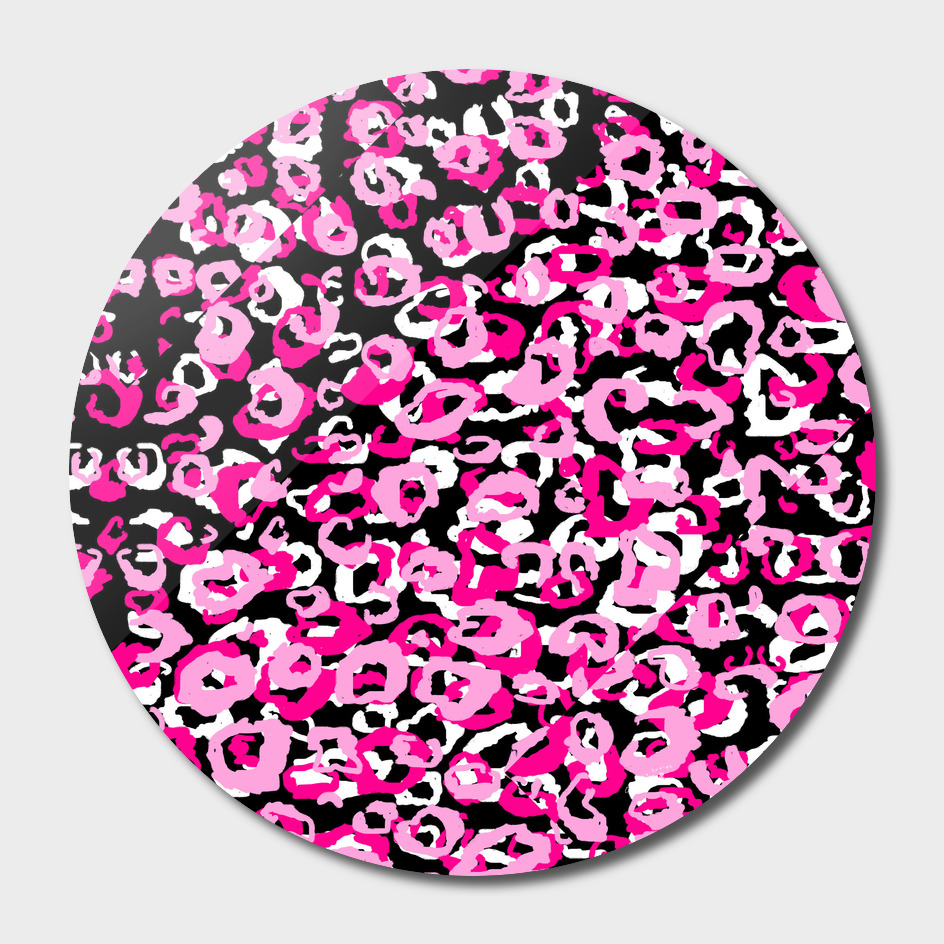 Pink Black and White LEopard