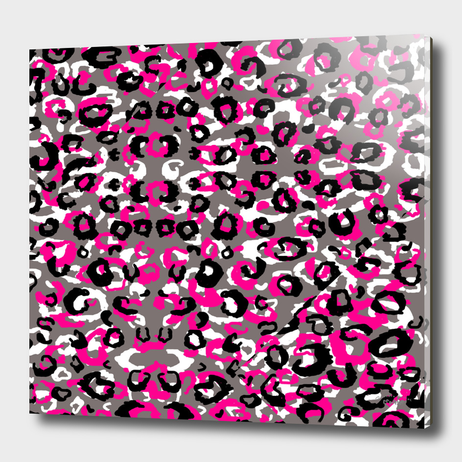 black pink gray and white leopard 2