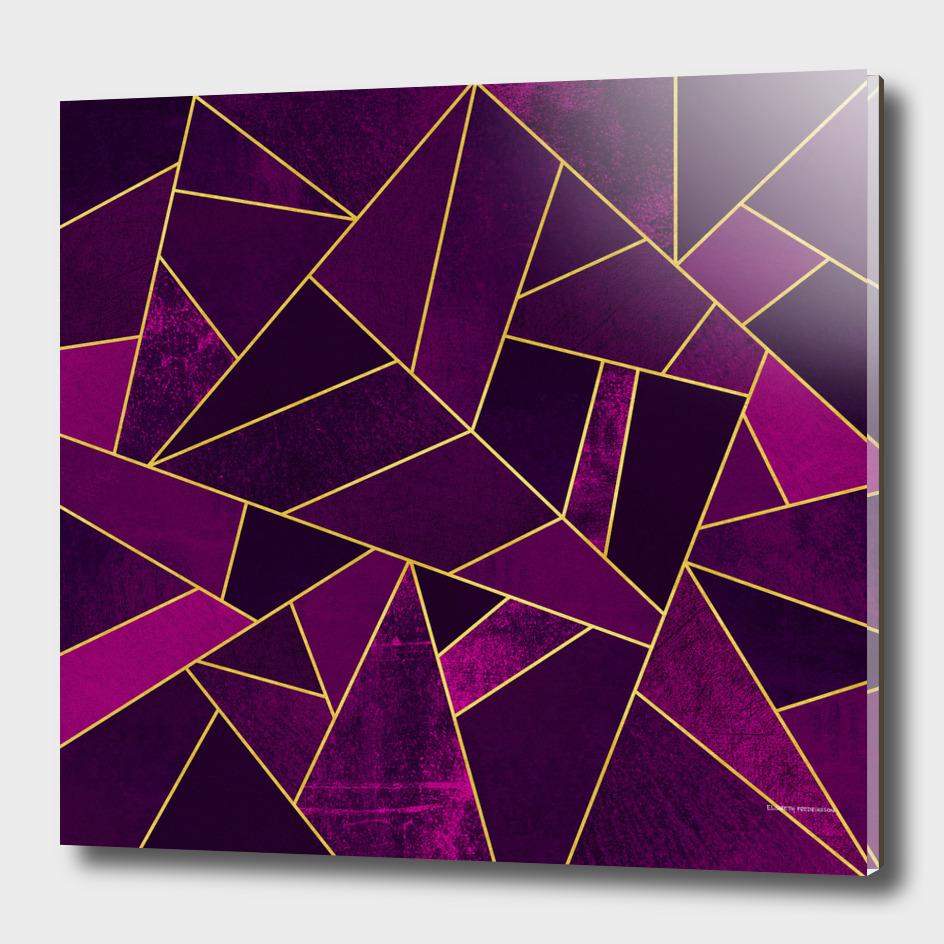 Purple Stone / Gold Lines
