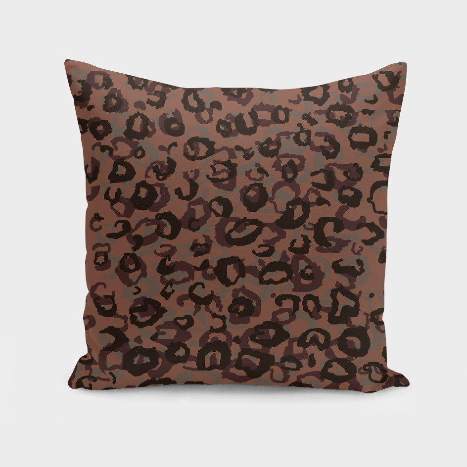 Dark Red Leopard Abstract