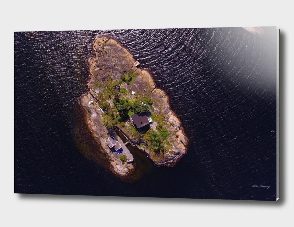 Heart-shaped island in Langesundfjorden