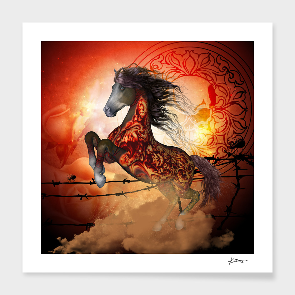Awesome creepy horse