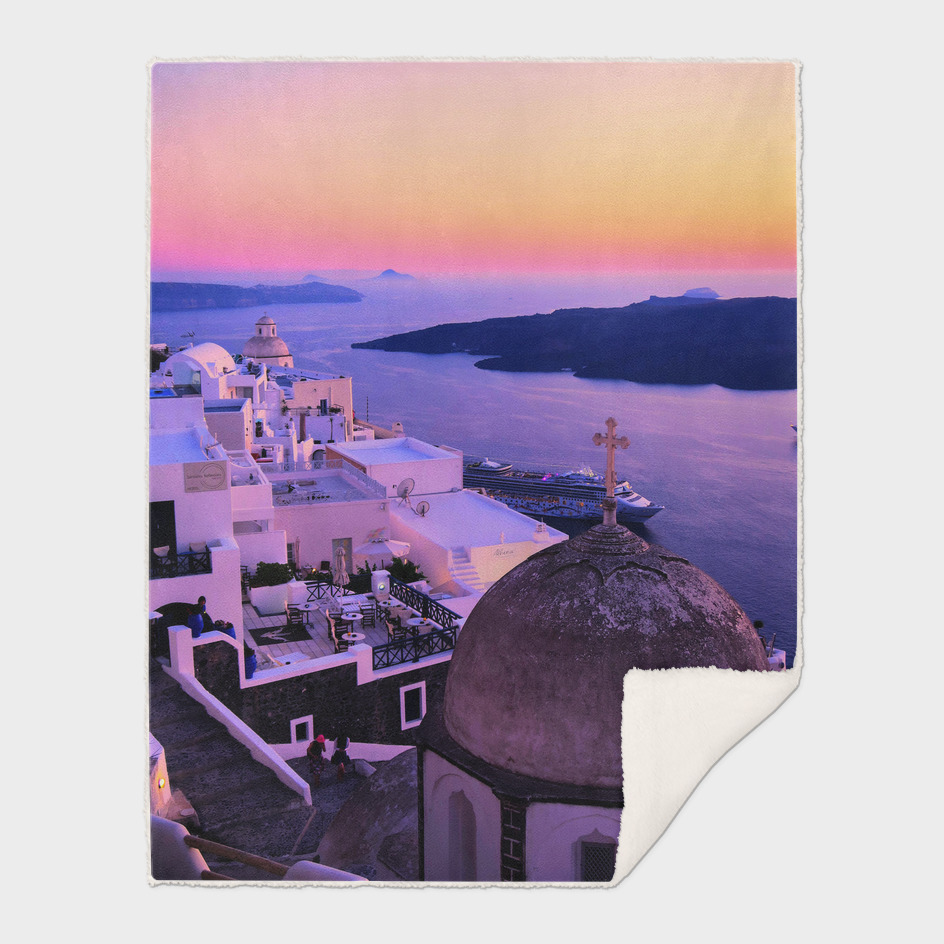 Sunset in Fira,Santorini