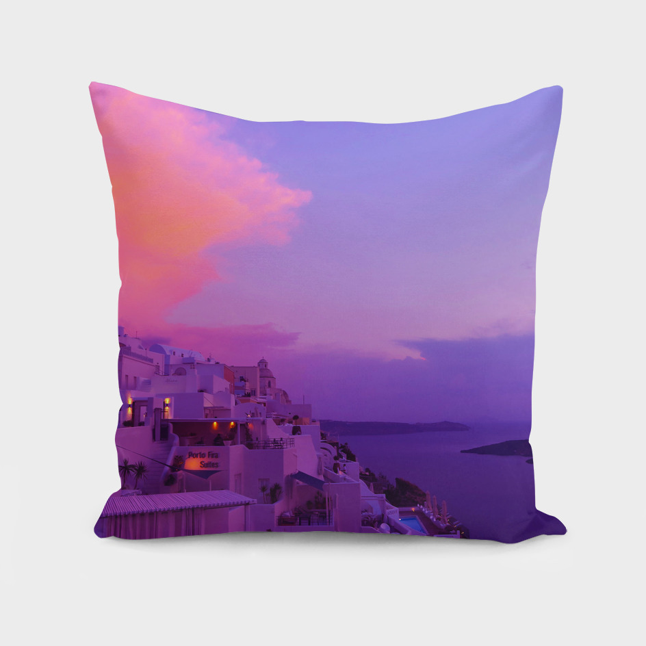 Purple sunset in Santorini