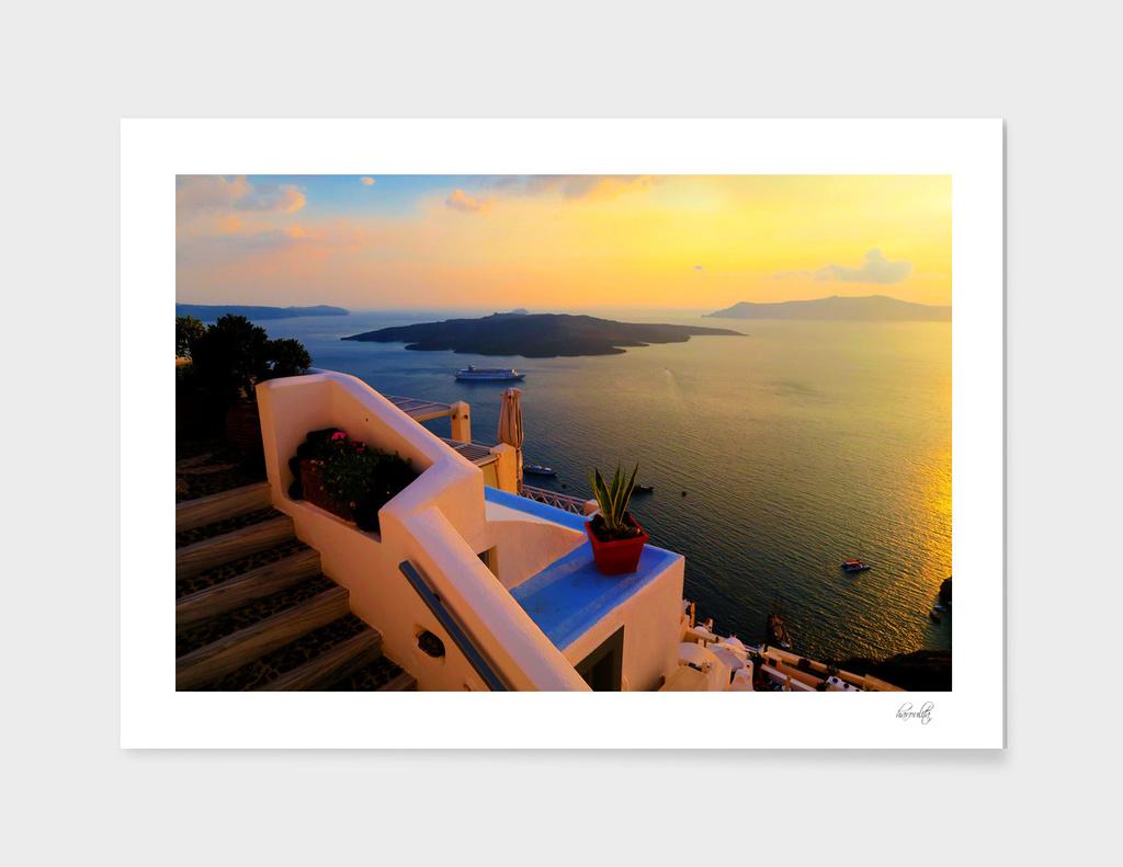 Sunset in Santorini ii