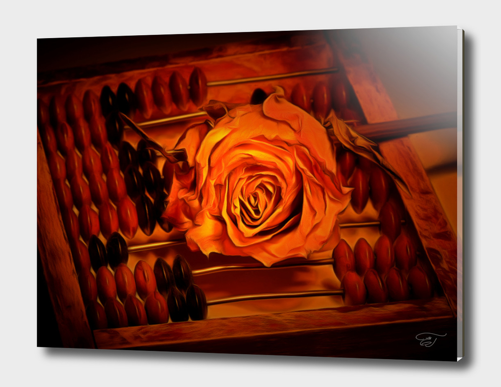 Abacus and a rose. Golden Age