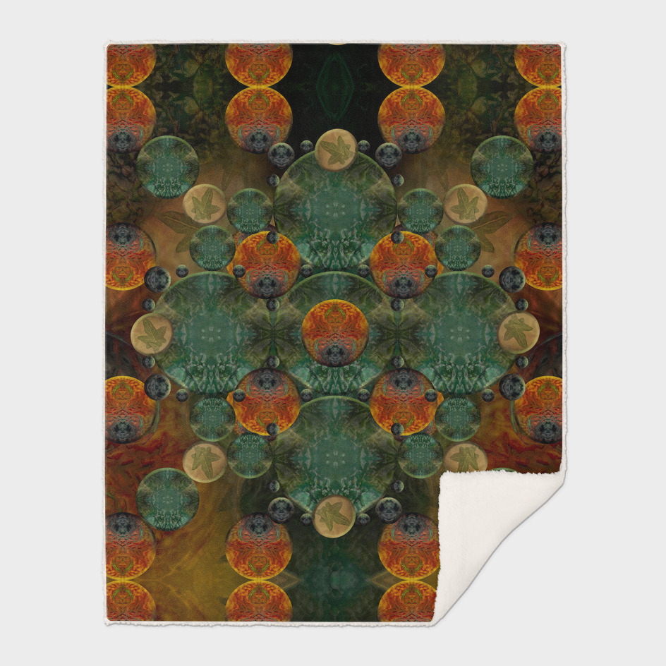 """Glass candy Mosaic (caramel pattern)"""