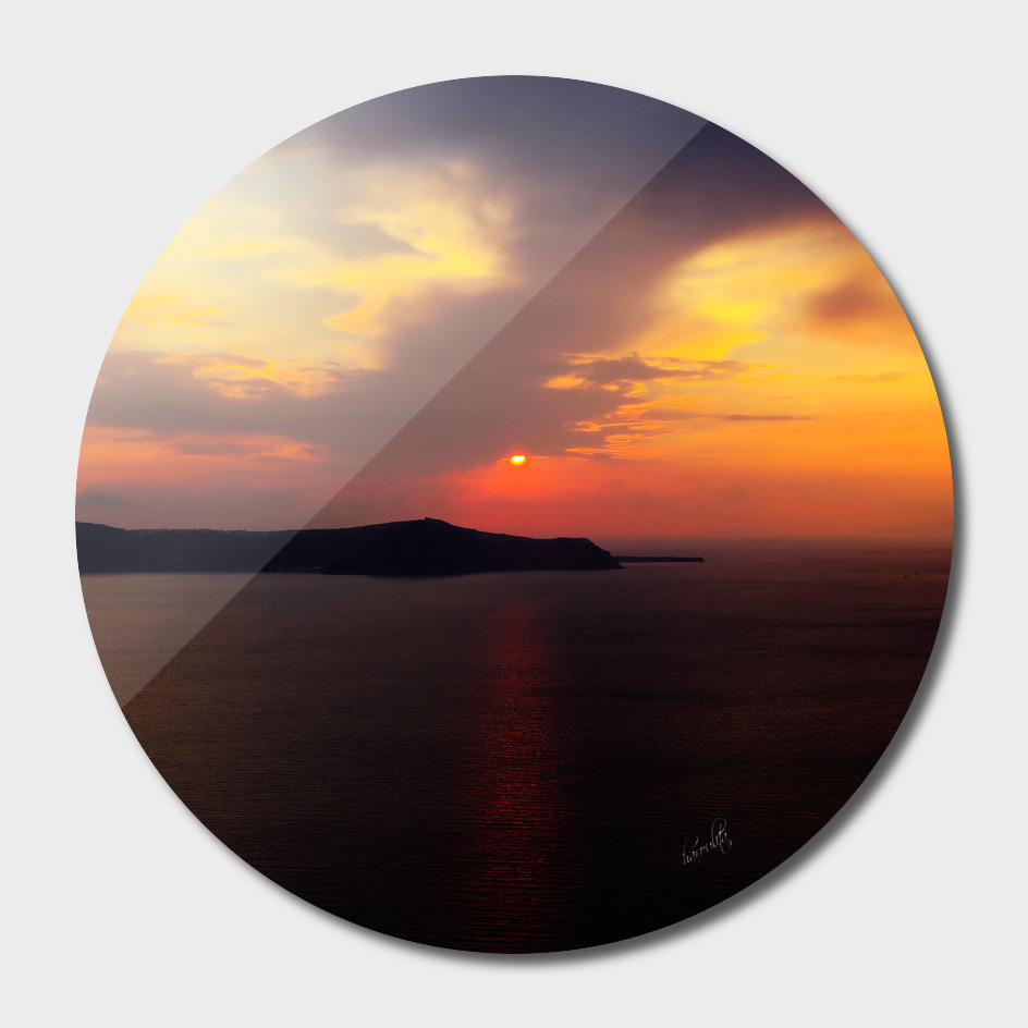 Santorini sunset vx