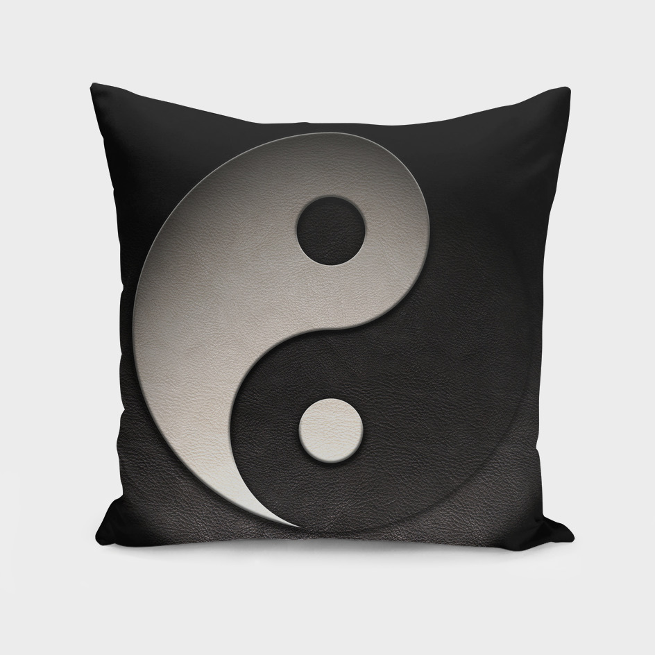 Yin Yang Symbol Leather Texture